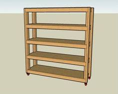Basement Wood Shelves Plans by Candy Spelling