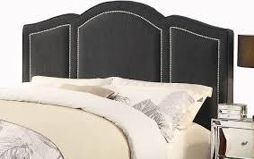 belita charcoal gray upholstery headboard transitional