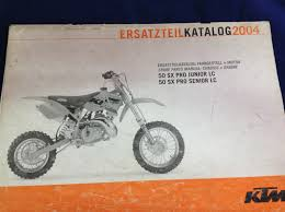 ktm 50 sx pro jnr snr 2004 chassis u0026 engine spare parts manual