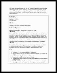 Housekeeper Resume Sample by Cook Housekeeper Cover Letter