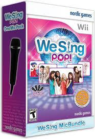 amazon com we sing pop with 2 microphones nintendo wii 2 mic