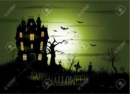 greeny halloween haunted house background royalty free cliparts