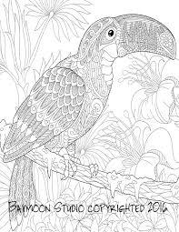 vector zentangle stylized cartoon eagle of prey hawk falcon