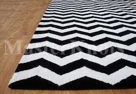 Modern Black And White Rug Brand New Modern Chevron Zig Zag Black Handmade Woolen Area Rug