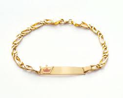 Gold Baby Name Bracelets Gold Baby Bracelet Etsy