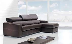 Sofa Sleeper With Chaise Decorating Modern Leather Sectional Sleeper Sofa In Brown On