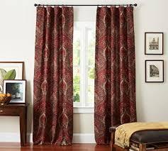 mira paisley linencotton drape pottery barn paisley curtains