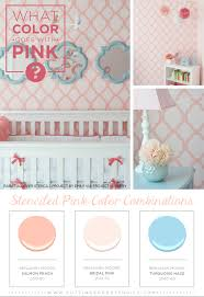 colors combinations what color goes with pink stenciled pink color combinations