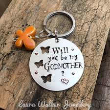 godmother keychain godmother keychain will you be my godmother gift for godmother