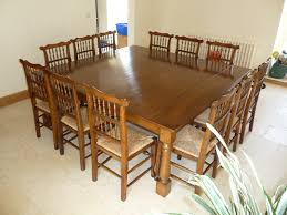 Large Square Dining Room Table Likeable Large Square Oak Dining Table Seats 9 Corwell