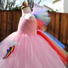 Pony Rainbow Dash Halloween Costume Pink Rainbow Dash Pony Costume Whimsical Rainbow