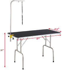 table top grooming table pet dog cat grooming table top foam w arm and noose rubber mat 47 5