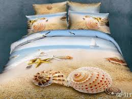 home decorators collection promo 46 beach seashell starfish cotton queen bedding sets beauty with