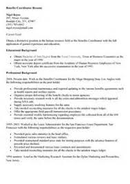 Coordinator Resume Examples by Benefits Coordinator Resume Sample Resume Pinterest