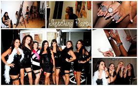 themed bachelorette party simply sucré moulin bachelorette party sketching party
