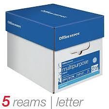 office depot brand multipurpose paper letter size paper 20 lb 500