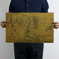 Lord Of The Rings Map Buy Middle Earth And Get Free Shipping On Aliexpress Com