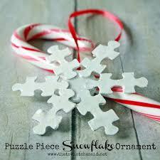 puzzle snowflake ornament that s what che said