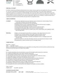 chef resume objective chef objective resume download chef resume