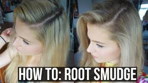 root drag hair styles diy balayage sombre root smudge blonde hair with dark roots