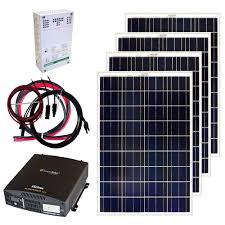 home depot solar grape solar 400 watt grid solar panel kit gs 400 kit the
