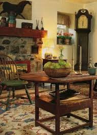 Primitive Dining Room Tables Farmhouse U2013 Interior U2013 Windsor Chairs Grandfather Clock Round