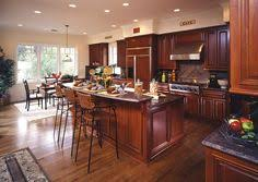 Kitchen Of The Day This Small Kitchen Features Traditional Rich - Images of kitchens with cherry cabinets