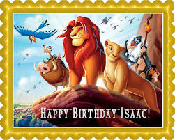 lion king cake toppers lion king 1 edible birthday cake or cupcake topper edible prints