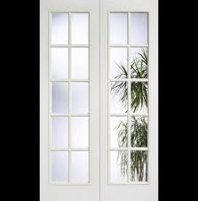 internal glass doors white white moulded 10 light door pair white 10 light french door
