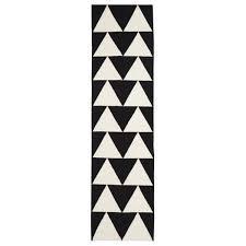 Flat Woven Runner Rugs Helsinki Black U0026 White Triangle Wool Runner Rug