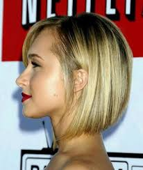 medium bob hairstyle side view