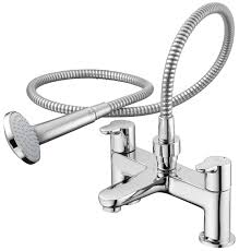 ideal standard concept blue 2 hole bath shower mixer tap with kit