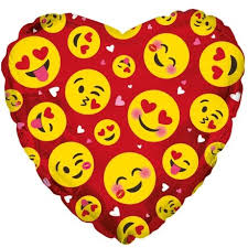 inflated helium balloons delivered bunches co uk emoji hearts balloon bemo show them how much you