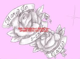 gary s greetings roses with name and date banners
