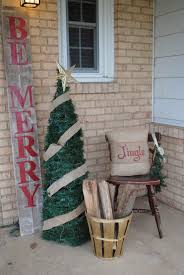porch ideas two it yourself 10 christmas front porch ideas on the cheap