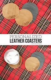 diy personalized leather coaster set u2013 craftivity designs