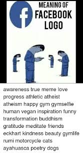 Funny True Meme - meaning of facebook logo awareness true meme love progress athletic