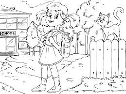 coloring pages back to preschool theme activities
