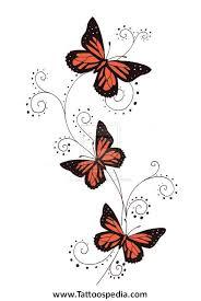 butterfly designs with swirls tattoos henna