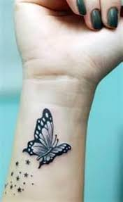 butterfly could be inked on different parts of the