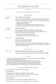 Clinical Resume Examples by Clinical Research Coordinator Resume The Best Resume