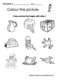 color the picture that begins with j worksheet pre activity