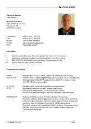 simple curriculum vitae format doc template cv template word document