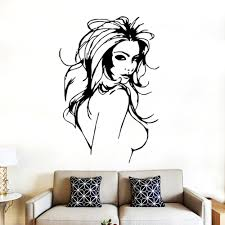 popular sexy wall murals buy cheap sexy wall murals lots from 2017 sexy girl wall mural vinyl decal wall salon women window sticker high quality on hot