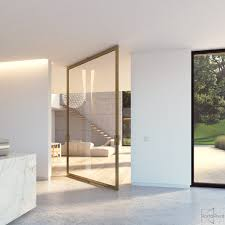 glass door pivot hardware large glass pivot door with a bronze anodized aluminium frame and