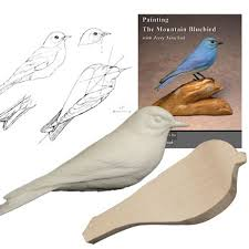 kit mountain bluebird tupelo wood carving kit jerry simchuk