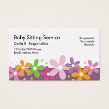 Zazzle Business Card Template Babysitting Business Cards U0026 Templates Zazzle