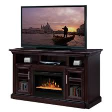 furniture rustic corner wooden tv stand with electric fireplace
