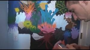 coral reef freehand wall painting youtube
