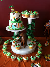 jungle baby shower cake photo baby shower cakes 4 image